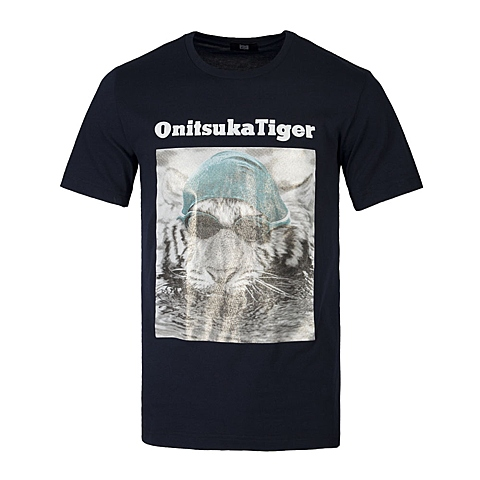 Onitsuka Tiger鬼冢虎 新款中性印花T恤OKT019-050K