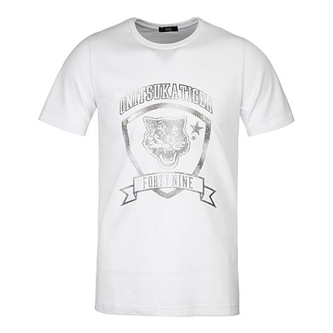 Onitsuka Tiger鬼冢虎 2016新款中性印花T恤OKT021-001M