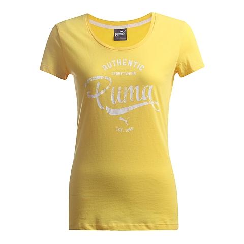 PUMA彪马 新款女子复古跑风基本系列短袖T恤83622229