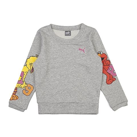 PUMA彪马新款女童芝麻街系列针织卫衣83672404