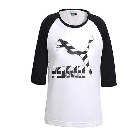 PUMA彪马 新品女子经典生活系列七分袖T恤57135732
