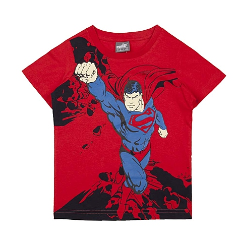 PUMA彪马新款男童基础系列Superman短袖T恤83675205