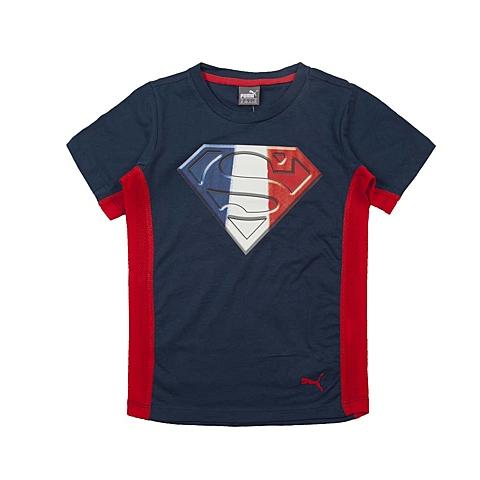 PUMA彪马新款男童基础系列Superman短袖T恤83787312
