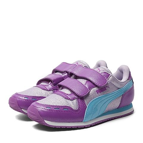 PUMA彪马2016新款女子时尚生活系列Cabana Racer Glitter V Kids儿童跑步鞋35997001