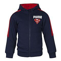PUMA彪马新款男童基础系列Superman Hooded Sweat Jacket针织外套83880806