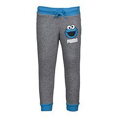 PUMA彪马2017新款男童芝麻街系列STYLE SESAME Sweat Pants针织长裤59071203