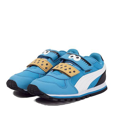 8970906bc661f4  彪马362676蓝色多瑙河-彪马白-蓝色多瑙河 PUMA彪马男童Sesame Street芝麻街系列ST Runner CM HOC V Inf 休闲鞋36267601