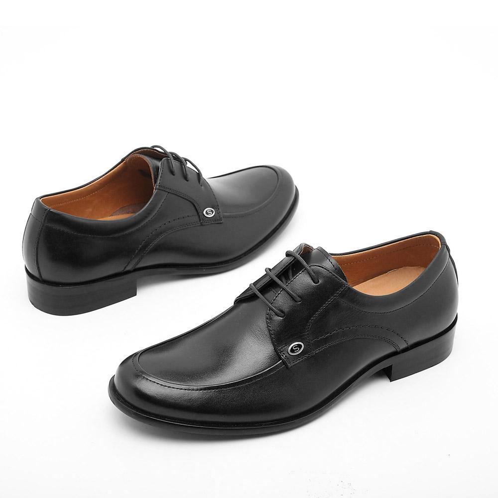 senda/森达夏季黑色小牛皮男鞋-sd052-05