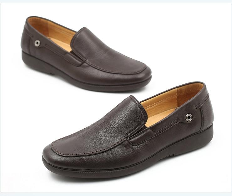 senda/森达春季棕色牛皮男单鞋2im66am2