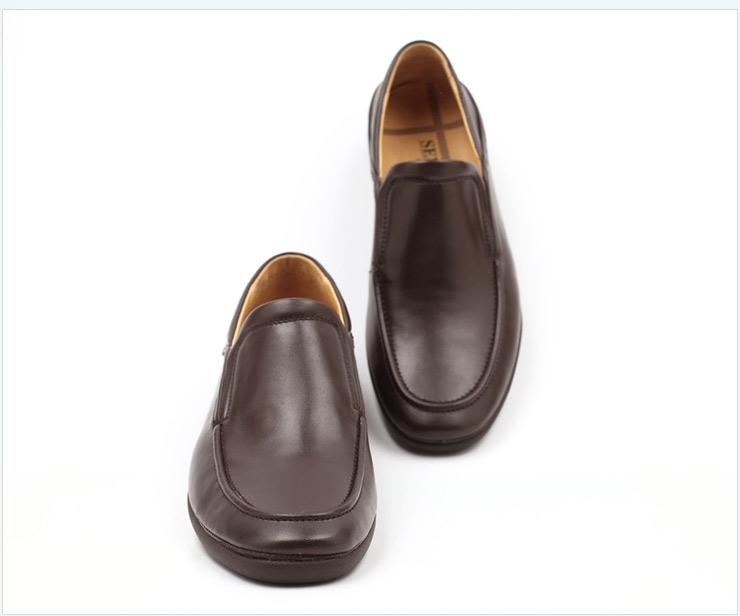 senda/森达春季棕色牛皮男单鞋2im68am2
