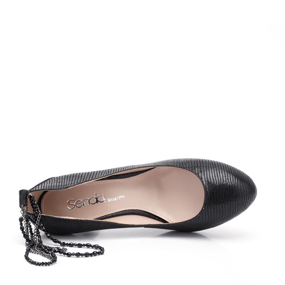 senda/森达春季黑纹羊女单鞋4iy61aq2