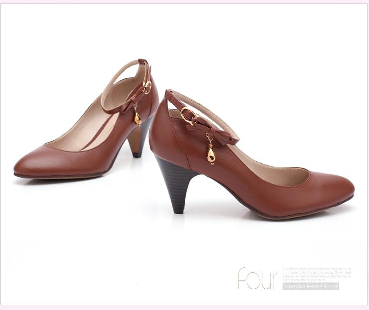 senda/森达2012春季棕平羊女单鞋4ak60d