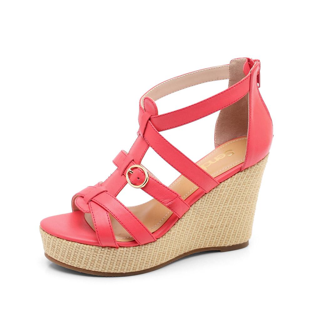 senda/森达2012夏季红蜡羊女凉鞋4ek63d