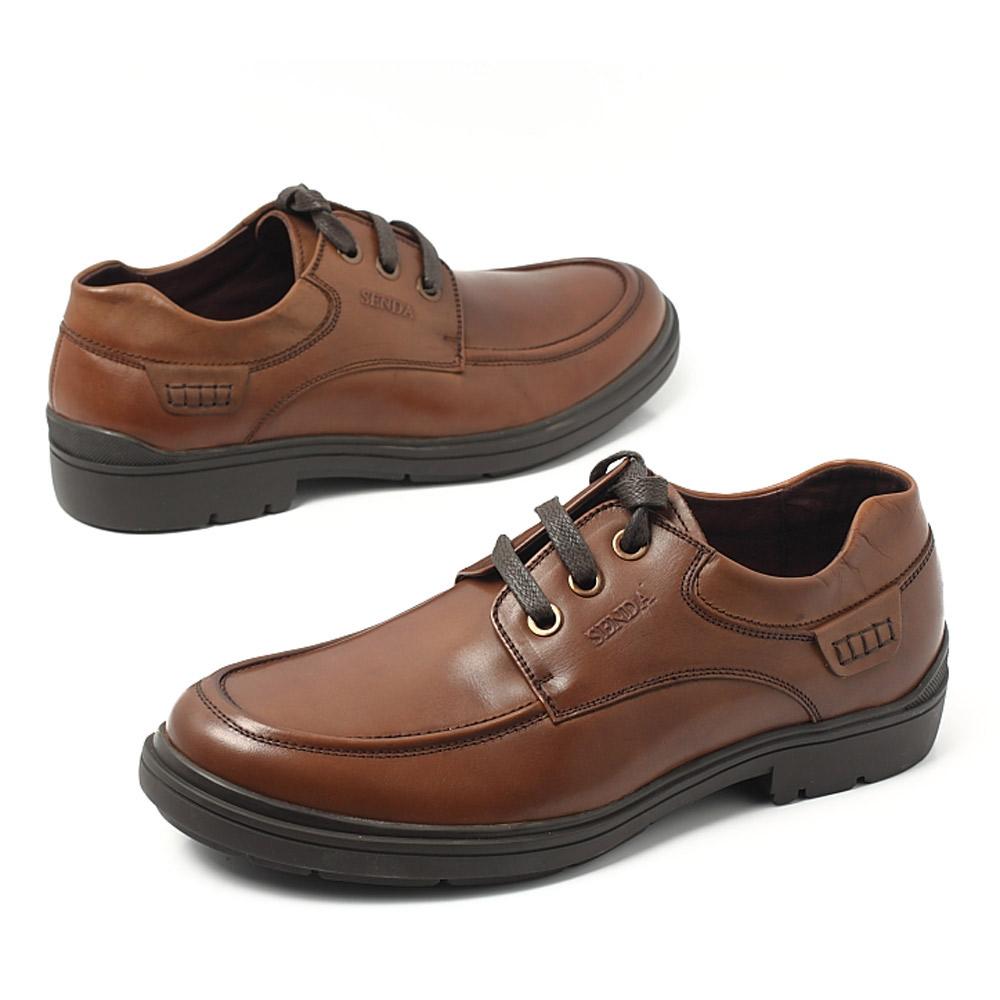 senda/森达秋季棕染牛男单鞋2wq07cm2