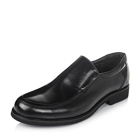 SENDA/森达黑色牛皮男单鞋商务男鞋婚鞋秋季13281CM3