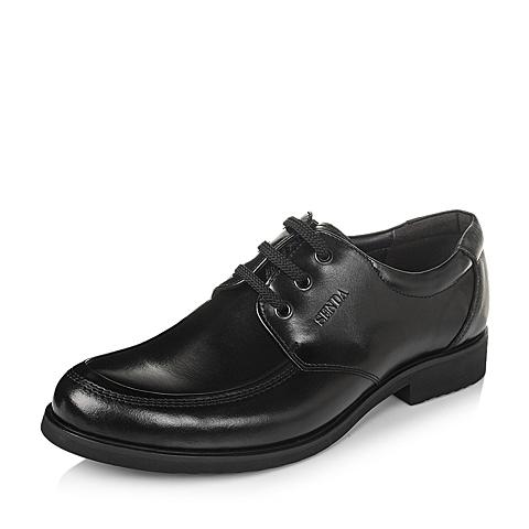 Senda/森达秋季黑色牛皮男单鞋13282CM3