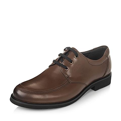 Senda/森达秋季棕色牛皮男单鞋13282CM3
