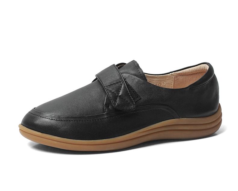 senda/森达秋季黑色牛皮女皮鞋3ul08cm3