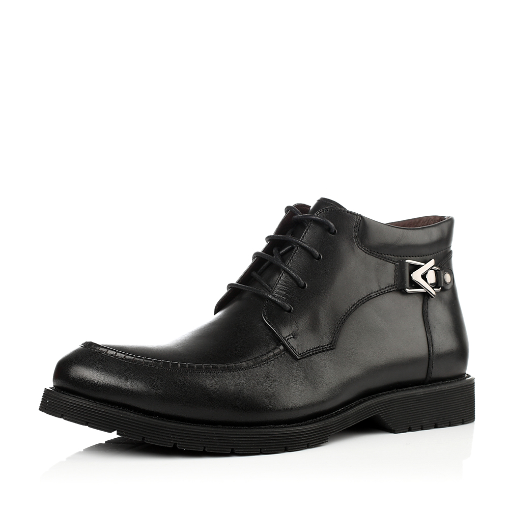 senda/森达冬季黑色小牛皮男靴2wf79dd3绒里商务正装上班