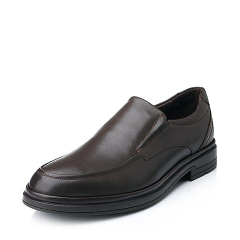 Senda/森达秋季专柜同款棕色牛皮商务正装男单鞋1CH03CM4