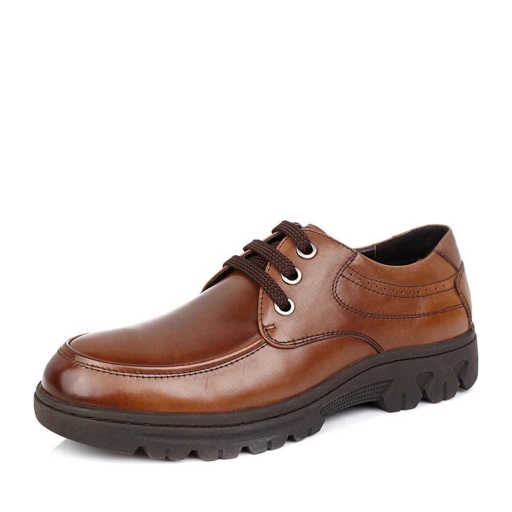 senda/森达2014冬季棕色牛皮男单鞋v8803dm4时尚商务