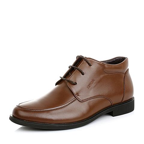Senda/森达冬季男低靴V9829DD4正装时尚商务男鞋婚鞋