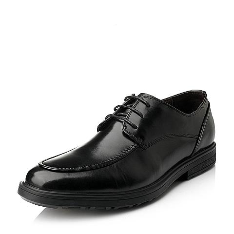 Senda/森达秋季专柜同款黑色牛皮商务正装男单鞋1DB01CM4