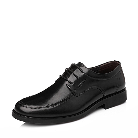 SENDA/森达黑色牛皮男单鞋商务男鞋婚鞋秋季A8391CM4