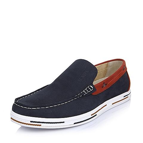 Senda/森达夏季红色牛皮简约时尚男单鞋Q7276BM5