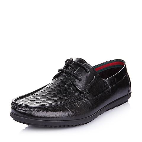 SENDA/森达夏季黑色牛皮男单鞋75232BM5