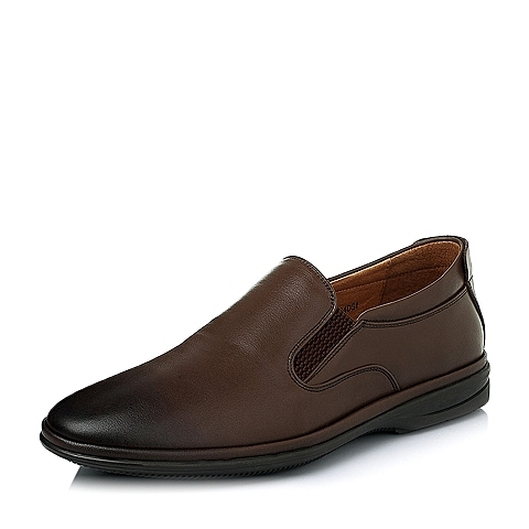 Senda/森达春季专柜同款棕色打腊牛皮男休闲鞋1EB04AM5