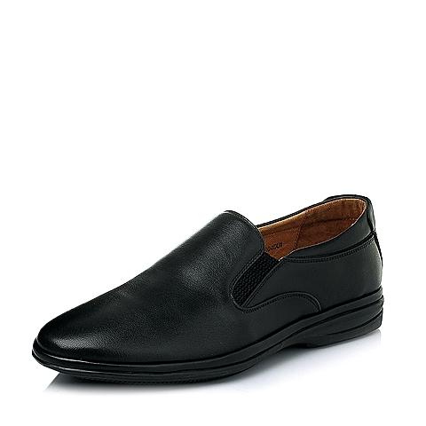 Senda/森达春季专柜同款黑色打腊牛皮男休闲鞋1EB04AM5