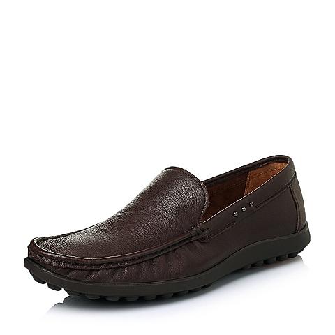 Senda/森达春季专柜同款棕色打蜡牛皮男皮鞋1ET01AM5