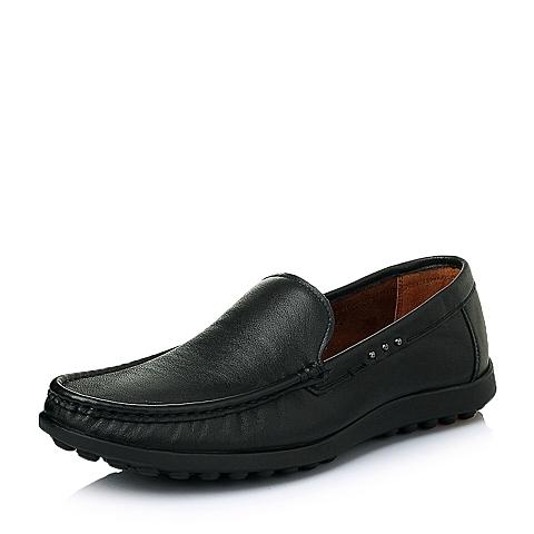 Senda/森达春季专柜同款黑色打蜡牛皮男皮鞋1ET01AM5