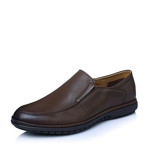 Senda/森达夏季专柜同款棕色牛皮男单鞋FE102BM5