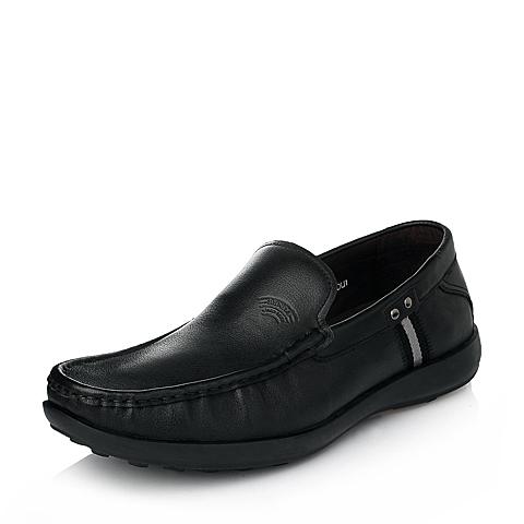 Senda/森达秋季男士黑色时尚休闲牛皮男单鞋1CS15CM5