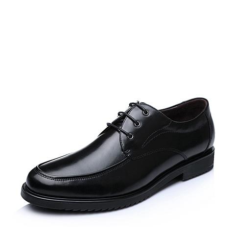 Senda/森达秋季黑色时尚商务牛皮男单鞋1CC13CM5
