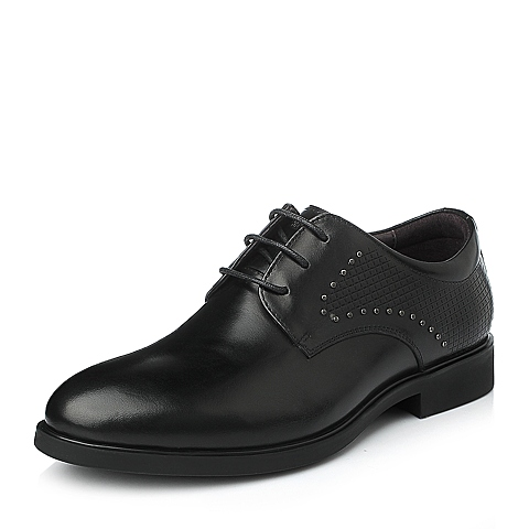 Senda/森达秋季男士黑色牛皮时尚商务正装男皮鞋107B1CM5