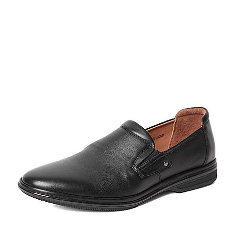 Senda/森达秋季专柜同款黑色打蜡牛皮男鞋1EB19CM5 专柜1
