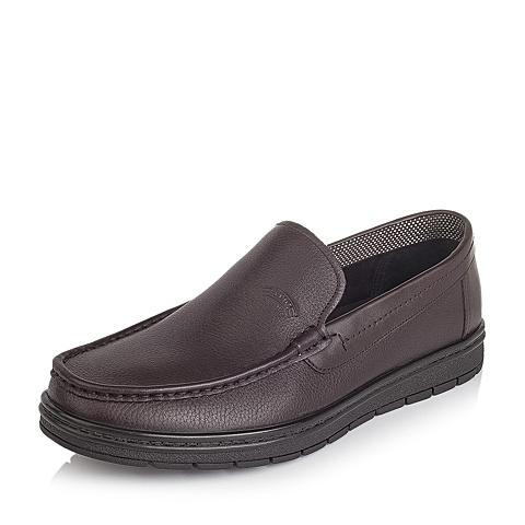 Senda/森达秋季专柜同款棕色牛皮男皮鞋FQ110CM5