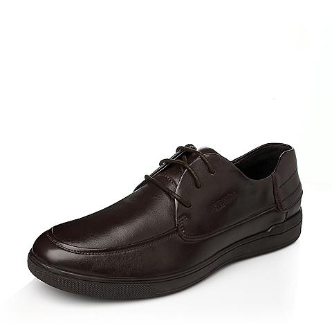 Senda/森达冬季棕色时尚商务休闲牛皮男休闲鞋H2521DM5