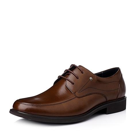 Senda/森达冬季棕色时尚商务休闲牛皮男皮鞋M5221DM5
