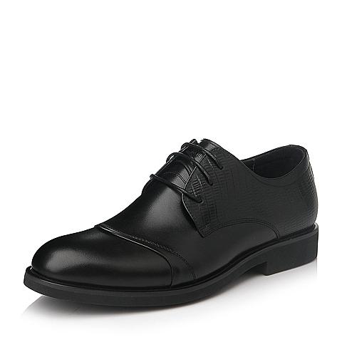 Senda/森达冬季黑色牛皮男单鞋10115DM5