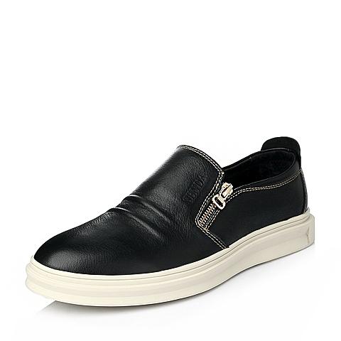 Senda/森达冬季黑色牛皮男单鞋Q2271DM5