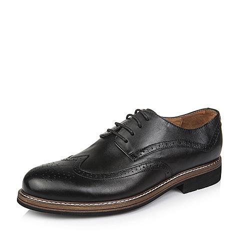 Senda/森达秋季专柜同款黑色牛皮男单鞋2UY01CM5