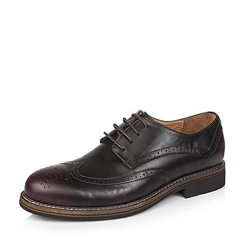 Senda/森达秋季专柜同款棕色牛皮男单鞋2UY01CM5