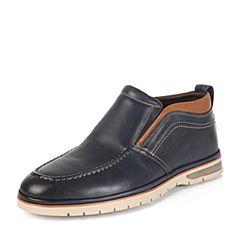 SENDA/森达冬季专柜同款蓝色牛皮男皮靴GZ130DD5