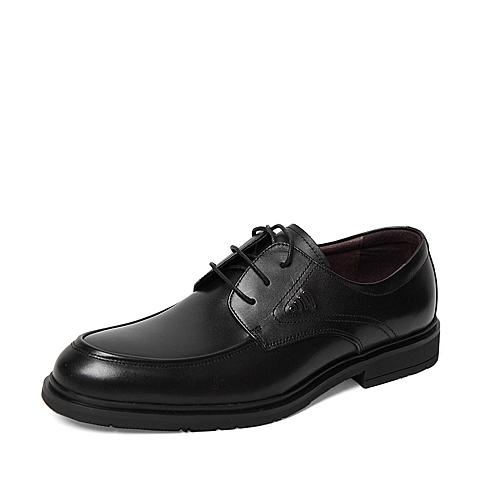 Senda/森达春季专柜同款黑色打蜡牛皮男皮鞋HS104AM6 专柜1