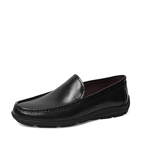 Senda/森达春季专柜同款黑色打蜡牛皮男单鞋IF101AM6 专柜1