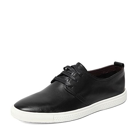 Senda/森达2016春季专柜同款黑色打蜡牛皮男单鞋IL110AM6 专柜1